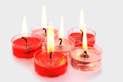 Red and pink candles royalty free stock image