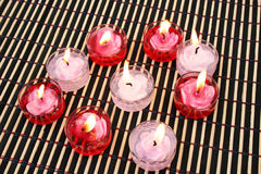 Red and pink candles Royalty Free Stock Photography