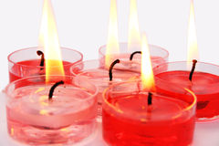 Red and pink candles stock image