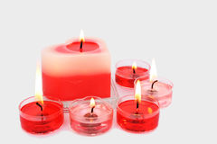 Red and pink candles Stock Photography