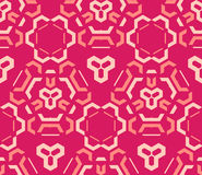 Red pink color abstract geometric seamless pattern. Vector red orange pink color abstract geometric seamless pattern Royalty Free Stock Image