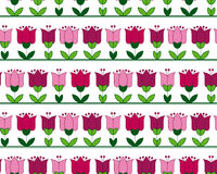 Red and pink color abstract tulip flower motif. Royalty Free Stock Photo