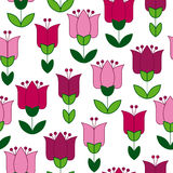 Red and pink color abstract tulip flower motif. Royalty Free Stock Images