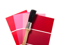 Red and pink color samples Royalty Free Stock Images