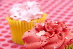 Red and Pink Cupcakes Stock Photo