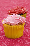 Red and Pink Cupcakes Royalty Free Stock Photos