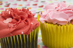 Red and Pink Cupcakes Stock Image
