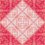 Red and pink curled symmetrical background Royalty Free Stock Photography