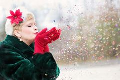 Red, Pink, Girl, Winter Royalty Free Stock Image
