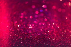 Red and Pink glitter abstract background with bokeh defocused Stock Photo