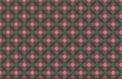 Red Pink Gray Wire Geometric Pattern Design royalty free illustration