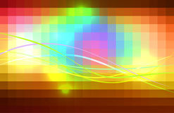Red pink green blue brown glowing colored lines background. Red pink green blue brown vector abstract glowing background with colored lines Stock Photos