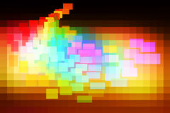Red pink green blue brown glowing various tiles background Royalty Free Stock Images