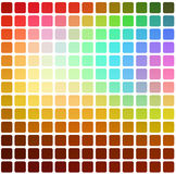 Red pink green blue brown rounded mosaic background over white s Royalty Free Stock Photos