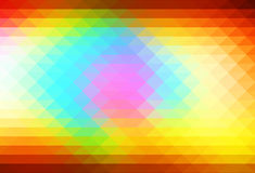 Red pink green blue brown rows of triangles background. Red pink green blue brown abstract geometric background with rows of triangles Royalty Free Stock Photos