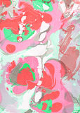Red, pink, green and gray abstract hand painted background Stock Images