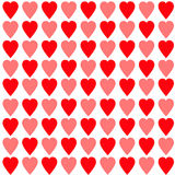 Red and pink heart set Seamless Pattern. Wrapping paper, textile template. White background. Isolated. Flat design. Stock Photo