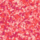 Red and pink heart shape confetti seamless pattern Stock Photo