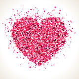 Red pink heart shape dots illustration. Royalty Free Stock Image
