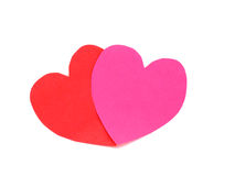 Red and pink hearts Stock Images