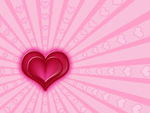 Red and pink hearts royalty free illustration