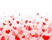 Red and pink hearts Royalty Free Stock Photo