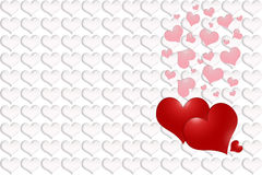Red and pink hearts Stock Photo