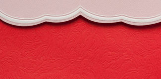 Red and pink invitation card Stock Images