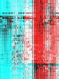 Red pink and light blue abstract digital art royalty free illustration