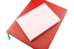 Red and pink notebook stacked isolated Royalty Free Stock Photography