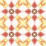 Red pink orange square seamless tile. Warm toned polished abstract texture. Detailed shiny background illustration. Textile print. Red pink orange square Stock Image