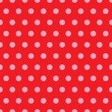 Red & Pink Polka Dot Pattern Stock Photo