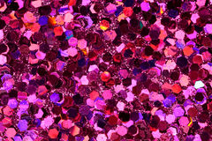 Red, Pink, Purple Glitter Background. Red, pink, purple six-sided glitter background Stock Photo