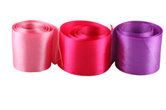 Red, pink and purple cloth tape Royalty Free Stock Photo