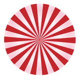 Red and Pink Rays in a Circle Stock Image