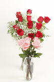 Red and Pink Rose Bouquets Stock Photography