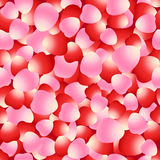 Red and pink rose petals seamless pattern Stock Image