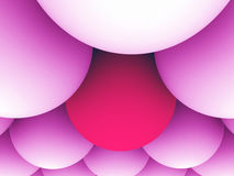 Red and pink spheres. Abstract illustration. 3d render Royalty Free Stock Photography