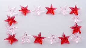 Red and pink stars Stock Photography