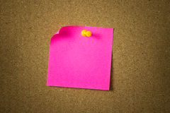 Red or pink sticky note stock image