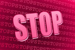 Red pink Stop sign Royalty Free Stock Photography