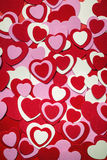 Red and pink Valentines day hearts Stock Photo