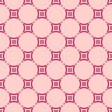 Red and pink vector geometric seamless pattern with rounded grid, net, mesh. Vector geometric seamless pattern with rounded grid, net, mesh, lattice. Simple stock illustration