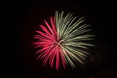 Red or pink and white fireworks royalty free stock photography