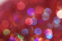 Red, pink, white, yellow and turquoise soft lights abstract background - dark colors Stock Photos