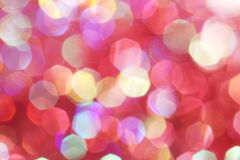 Red, pink, white, yellow and turquoise soft lights abstract background - dark colors Stock Photo