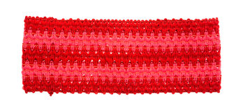 Red and pink yarn headband on a white background Stock Photos