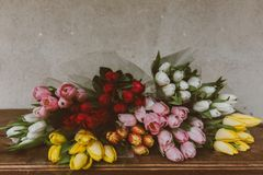 Red, Pink, Yellow, White, Colorful Royalty Free Stock Photo