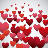 Red and pinks hearts background Royalty Free Stock Image