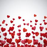 Red and pinks hearts background Royalty Free Stock Photography